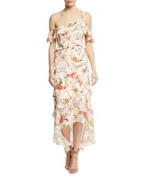 Rachel Zoe - Multicolor Jillian Silk Floral-print One-shoulder Maxi Dress - Lyst