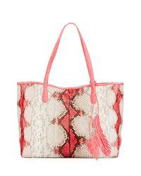 Nancy Gonzalez - Pink Erica Python Shopper Tote Bag - Lyst
