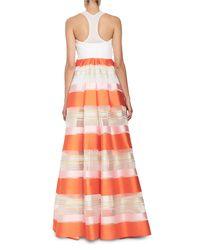 Delpozo | Orange Striped Organza Sleeveless Jumpsuit | Lyst