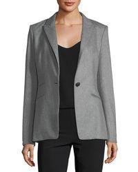 Rag & Bone - Gray Duke Wool-blend One-button Tailored Blazer - Lyst