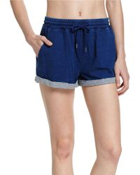 Seafolly - Blue French Terry Beach Shorts - Lyst