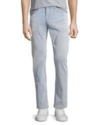 True Religion - Blue Geno Corduroy Slim-straight Pants for Men - Lyst