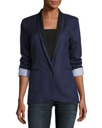 Joie | Blue Amit One-button Jacket | Lyst