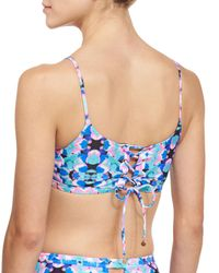 6 Shore Road By Pooja - Blue Bella Reversible Swim Top - Lyst