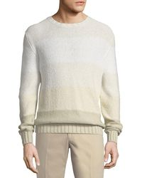Loro Piana - Natural Degrade Striped Sweater for Men - Lyst