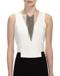 Brunello Cucinelli - Gray Monili Fringe Waterfall Necklace - Lyst