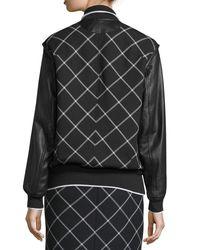Rag & Bone | White Edith Windowpane Varsity Jacket | Lyst