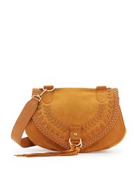 See By Chloé - Brown Collins Whipstitch Suede Shoulder Bag - Lyst