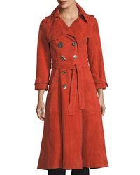 Rejina Pyo - Orange Kirsten Double-breasted Suede Trench Coat - Lyst