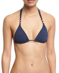 ViX - Blue Midnight Paula Solid Swim Top - Lyst