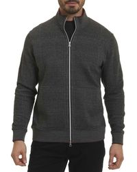 Robert Graham - Gray Hyde Park Full-zip Sweater for Men - Lyst