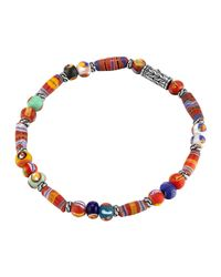 John Hardy - Metallic Classic Chain Silver Bracelet With Borneo Beads - Lyst