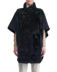 Gorski - Black Mink Fur Jacket With Cashmere Back - Lyst