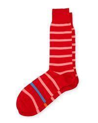 Paul Smith - Blue Neon Simple Stripe Socks for Men - Lyst