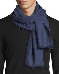 Eton of Sweden - Blue Merino Wool Herringbone Scarf for Men - Lyst