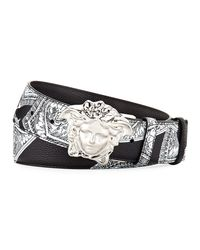 Versace - Black Reversible Medusa-buckle Belt - Lyst