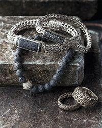 John Hardy - Metallic Men's Classic Chain Black Sapphire Station Clasp Bracelet for Men - Lyst