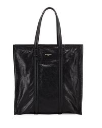 Balenciaga - Black Bazar Medium Leather Shopper Tote Bag - Lyst