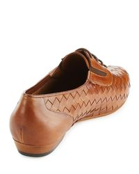Sesto Meucci - Brown Nadir Woven Leather Oxford - Lyst