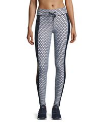 The Upside - Black Majestic Monochrome Printed Performance Leggings - Lyst