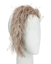 Gigi Burris Millinery - Gray Aurora Feather Headband - Lyst