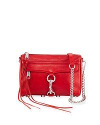 Rebecca Minkoff - Red Mini Mac Nubuck Crossbody Bag - Lyst