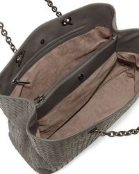 Bottega Veneta - Gray Intrecciato Double Chain Tote Bag - Lyst