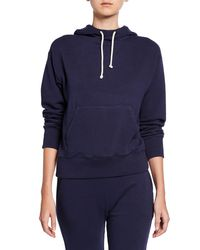 Vince - Blue Stretch Cotton Pullover Hoodie - Lyst