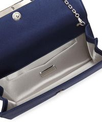 Judith Leiber Couture - Blue Tuxedo Crystal-trim Satin Clutch Bag - Lyst