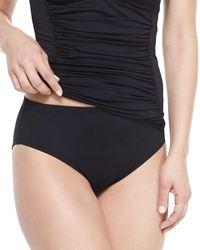 La Blanca - Black High-waisted Tummy Toner Swim Bikini Bottom - Lyst