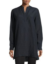 Joseph - Blue Dara Long-sleeve Linen Tunic - Lyst