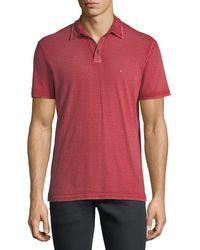 John Varvatos - Red Short-sleeve Peace Polo Shirt for Men - Lyst