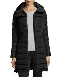 Moncler | Black Flammette Long Puffer Jacket | Lyst