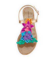 1361cd72f6a Lyst - Sophia Webster Hula 3d Floral Jelly Flat Sandal in Metallic