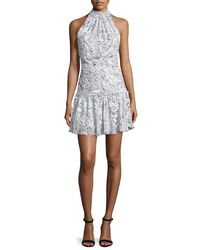 Elizabeth and James | Gray Wind Carlita Halter-neck Mini Dress | Lyst