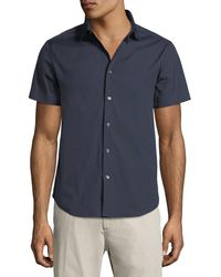 Theory - Blue Sylvain Short-sleeve Shirt for Men - Lyst