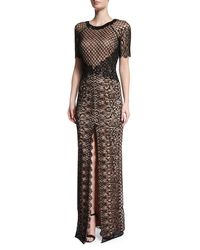 Rachel Gilbert - Black Savannah French Lace Gown - Lyst