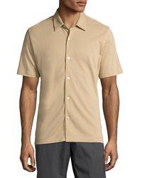 Theory - Natural Air Pique Short-sleeve Shirt for Men - Lyst