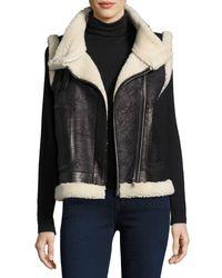 Joie - Black Danay Fur Vest - Lyst