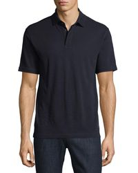 Z Zegna - Blue Techmerino Wool Polo Shirt for Men - Lyst