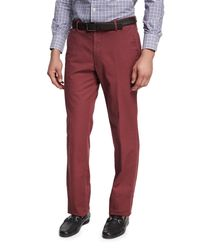 Peter Millar - Red Soft Touch Twill Pants for Men - Lyst