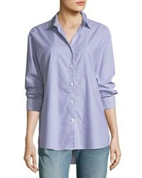 Kule - Blue The Hutton Button-front Oversized Oxford Shirt - Lyst