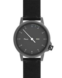 Miansai - Metallic M24 Stainless Steel Watch With Leather Strap - Lyst