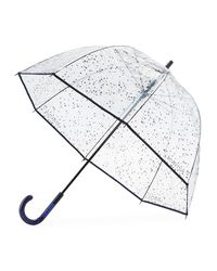 Hunter - Blue Transparent Moustache Bubble Umbrella - Lyst