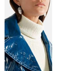 Simon Miller - Metallic Small Face Hammered Silver Earrings - Lyst