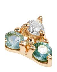 Wwake - Metallic 14-karat Gold, Tourmaline And Diamond Earring - Lyst
