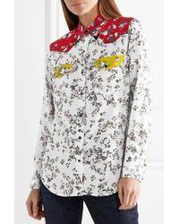 Rag & Bone - White Jasper Silk Shirt - Lyst