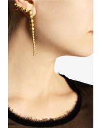 Paula Mendoza Metallic Roma Gold-plated Earrings Gold One Size
