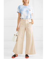 Ganni - Natural High-rise Wide-leg Jeans - Lyst