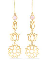 Pippa Small - Metallic 18-karat Gold Tourmaline Earrings Gold One Size - Lyst